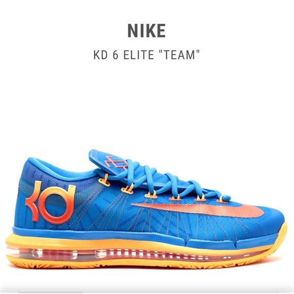 """info for 0921b f7285 KD 6 Elite """"team"""" Nike Atomic Mango Photo Blue 12.  M 5b9aaa636197455fe1294265"""